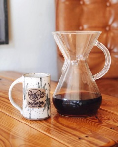 Chemex and coffee cup