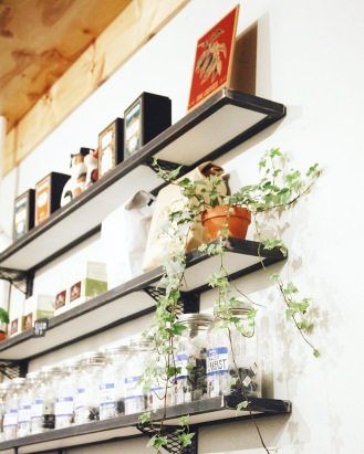 Tea + plant shelf